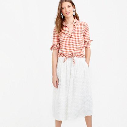 Midi skirt in cotton clip-dot