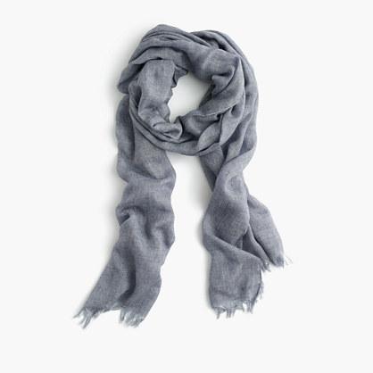 Lightweight wool-blend scarf