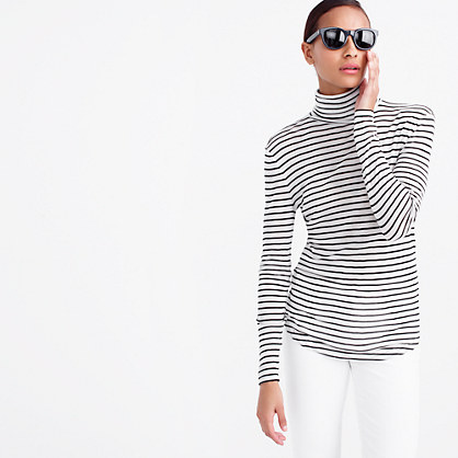 10 percent turtleneck T-shirt in stripe