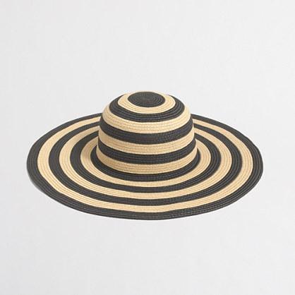 Factory striped-brim classic straw hat