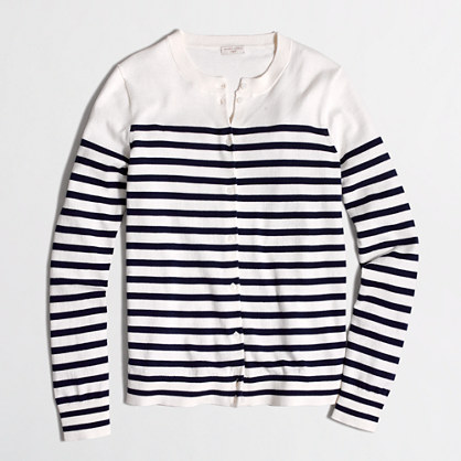 Factory drop-striped Caryn cardigan sweater