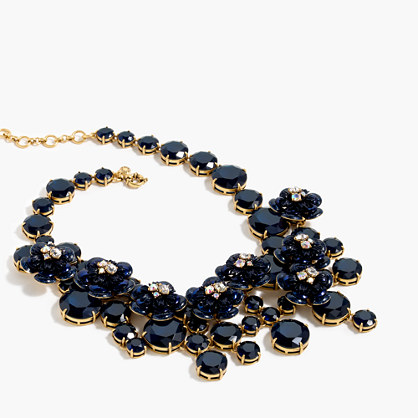 Midnight floral necklace