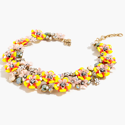Fun floral and crystal necklace