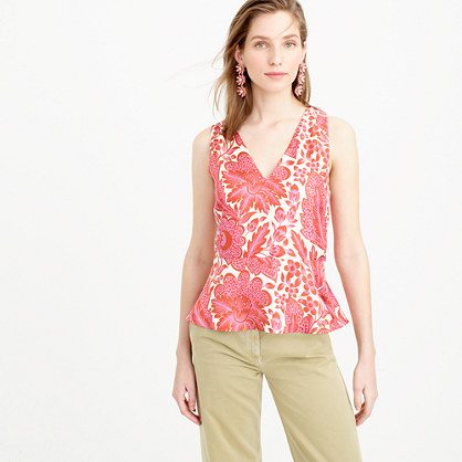 Collection floral top in silk