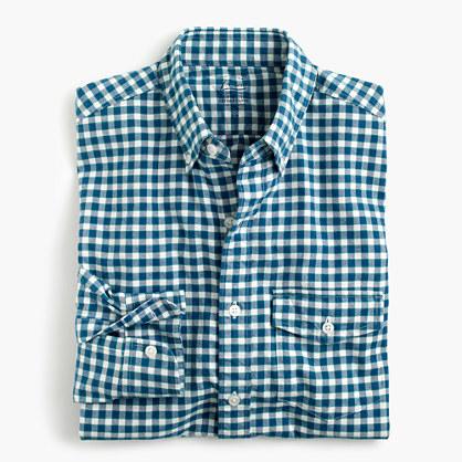 Slim lightweight oxford shirt in check
