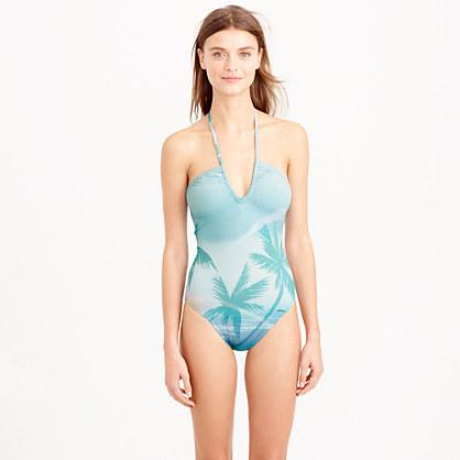 """Pati de St Barthâ""""¢ V-halter one-piece swimsuit"""