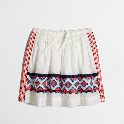 Factory girls' embroidered skirt