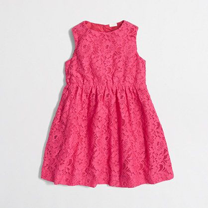 Girls' floral lace dress