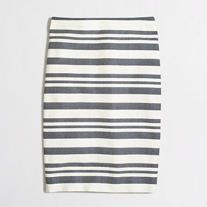Petite chevron striped pencil skirt