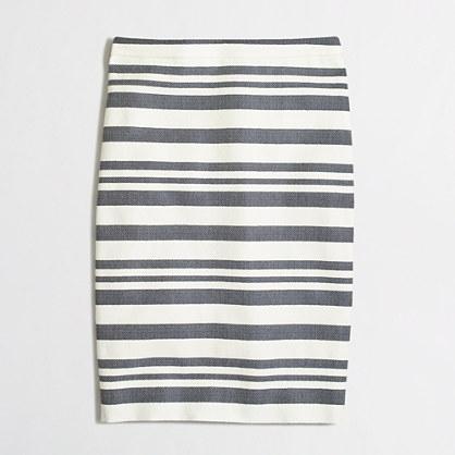 Petite chevron striped pencil skirt