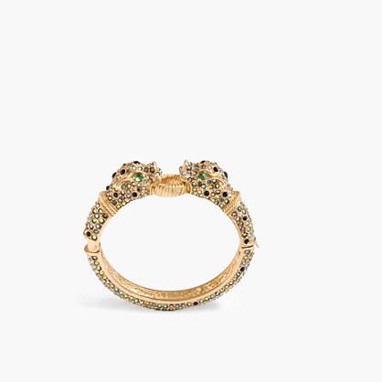 Leopard pavé hinge bracelet