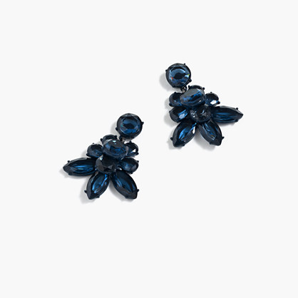 Oversized crystal earrings