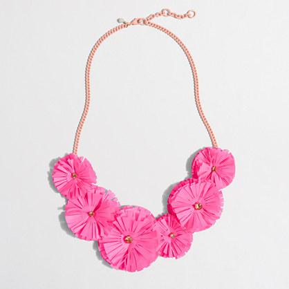 Factory girls' fringe flower necklace
