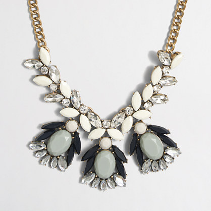 Factory abstract stone and crystal necklace
