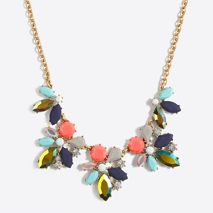 Factory asymmetrical clusters necklace