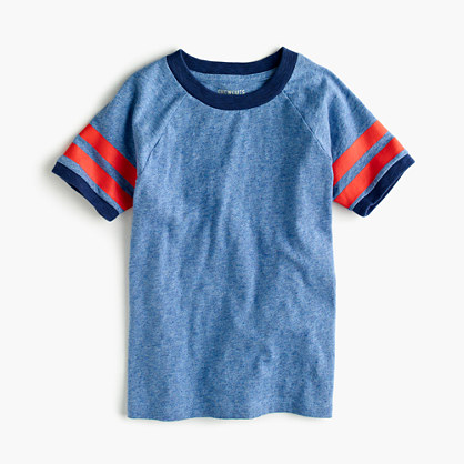 Boys' ringer T-shirt with double-stripe sleeves