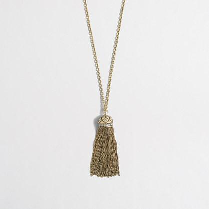 Factory tassel pendant necklace