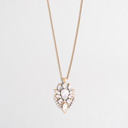 Factory crystal emblem pendant necklace
