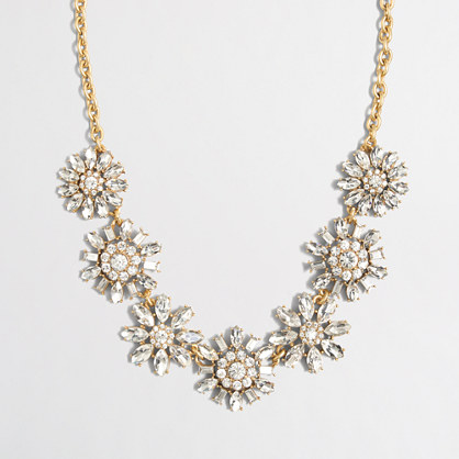 Factory crystal sunflower necklace