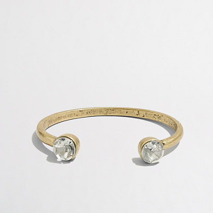 Factory accented open cuff bracelet