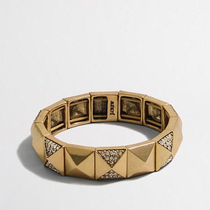 Factory golden crystal pyramid bracelet