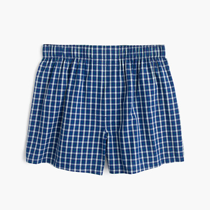Navy plaid boxers