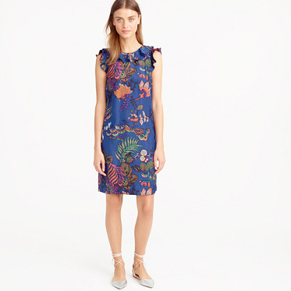 Tall ruffle dress in tropical floral