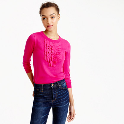 Tippi sweater with ruffles