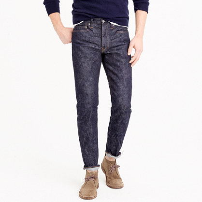770 stretch selvedge jean in raw indigo