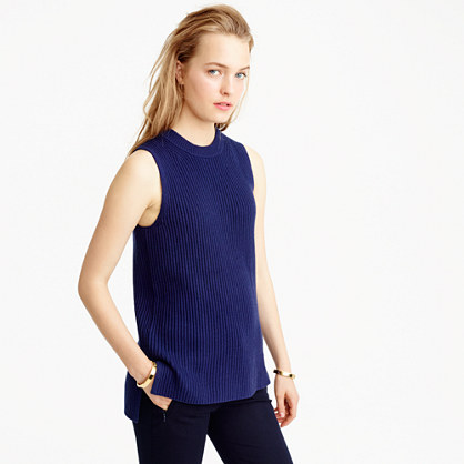 Sleeveless tunic sweater