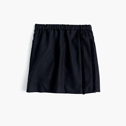 Girls' fuzzy flannel pull-on skirt