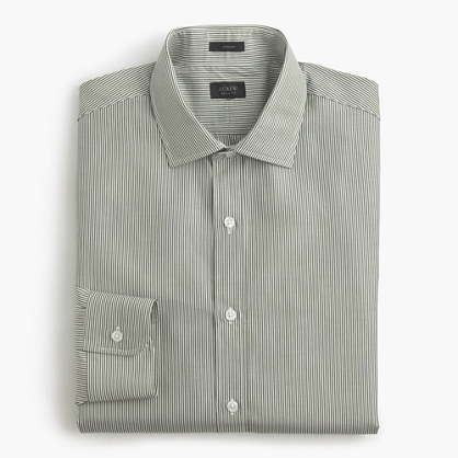 Crosby shirt in green stripe