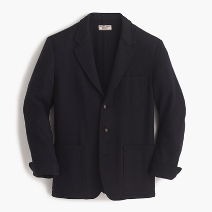 Wallace & Barnes blazer in herringbone English wool