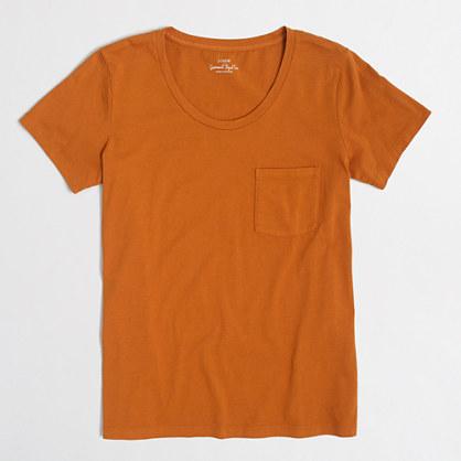 Factory sunwashed garment-dyed pocket T-shirt