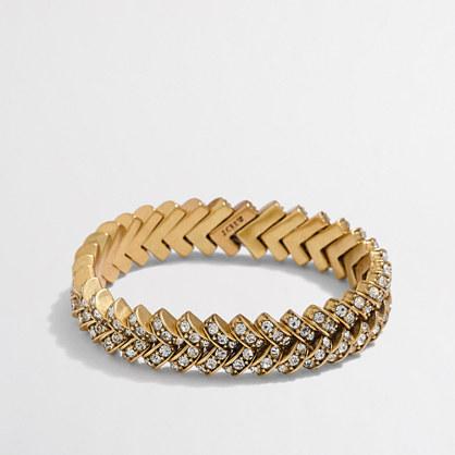 Factory crystal basketweave bracelet
