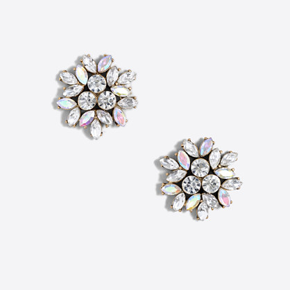 Factory crystal firework earrings