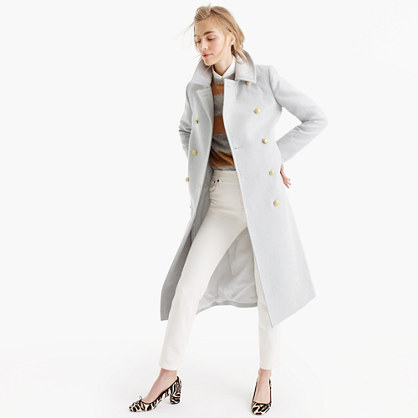 Double-breasted topcoat in wool-cashmere