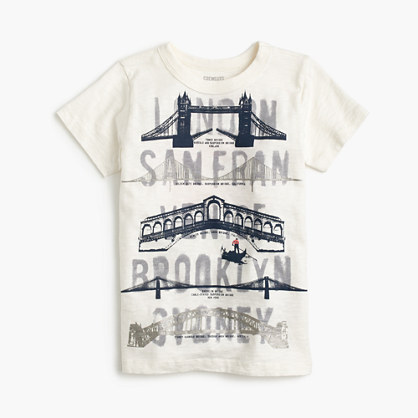 Boys' famous bridges T-shirt