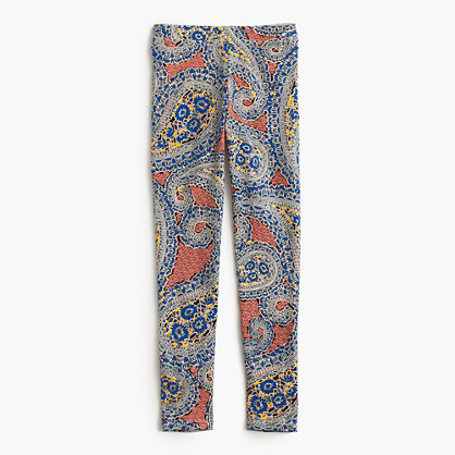 Girls' everyday leggings in vibrant paisley