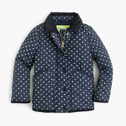 "Girls' Barn jacketâ""¢ in polka dot"