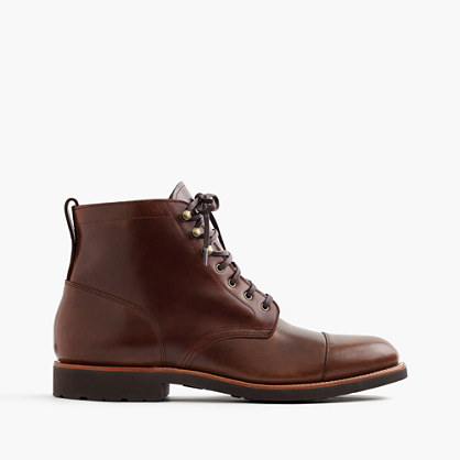 Kenton leather cap-toe boots