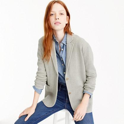 Merino wool sweater-blazer