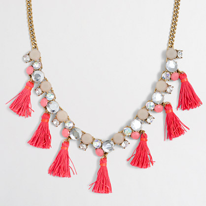Factory thread tassel necklace