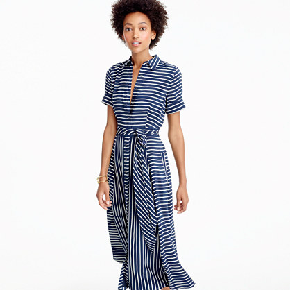 Midi shirtdress in stripe