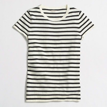 Striped short-sleeve sweater