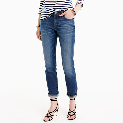 Slim broken-in boyfriend jean in Hemlock wash