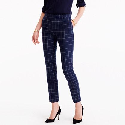 Tapered trouser pant in windowpane print