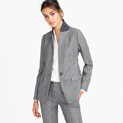 Collection Regent blazer in English glen plaid wool
