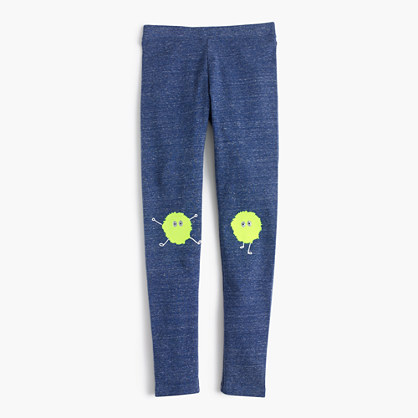 Girls' everyday leggings in embroidered Max the Monster