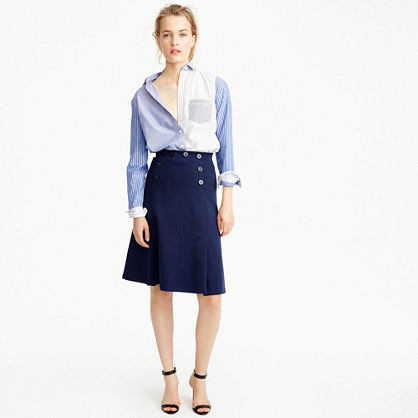 Sailor skirt in ponte